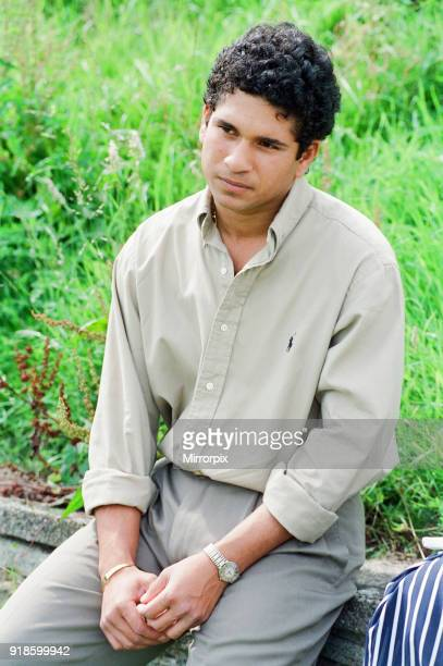 Sachin Tendulkar first overseas signing for Yorkshire County Cricket Club pictured in Sheffield 16th July 1992