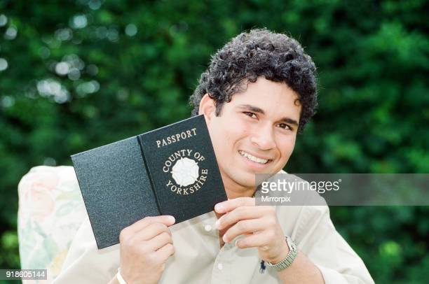 Sachin Tendulkar, first overseas signing for Yorkshire County Cricket Club, pictured in Sheffield, 16th July 1992.