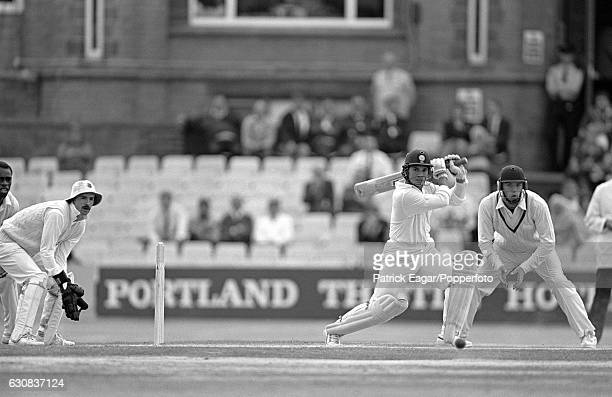 Sachin Tendulkar of India batting during his innings of 119 not out in the 2nd Test match between England and India at Old Trafford Manchester 14th...