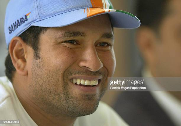 Sachin Tendulkar of India during the 2002 tour of England at Lord's Cricket Ground London 20th June 2002