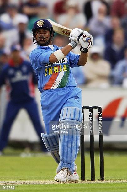 July 4 : Sachin Tendulkar of India on his way past his hunderedduring the match between England and India in the NatWest One Day Series at Chester Le...