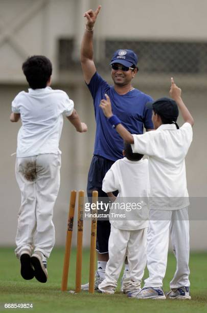 Sachin Tendulkar Sachin Tendulkar's son Arjun appeals successfully to his father in a friendly match among his friends on the eve of his birthday at...