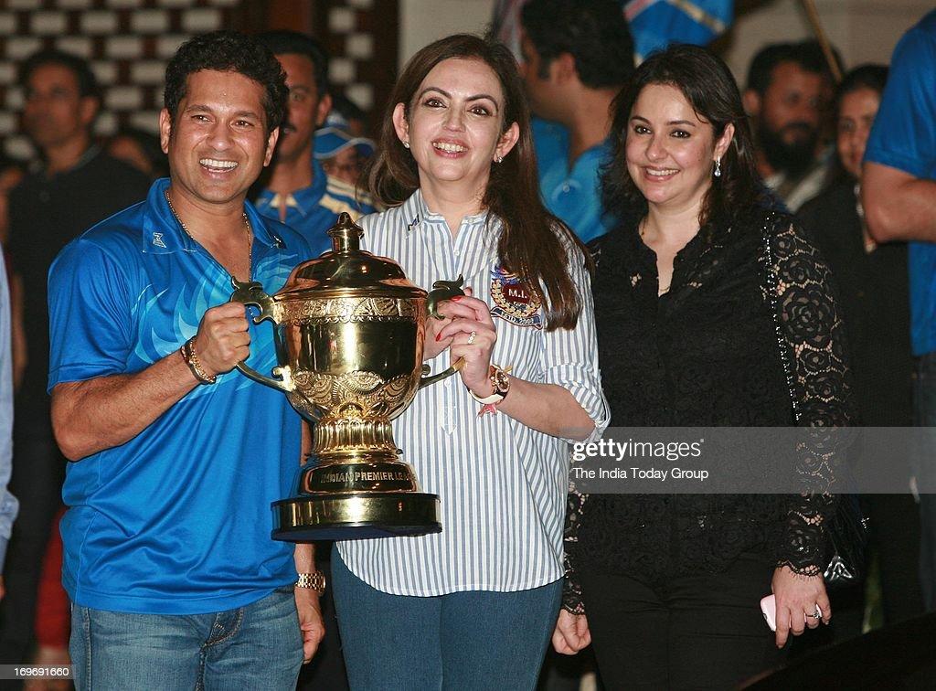 Mumbai Indians victory pary : News Photo