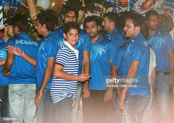 Sachin Tendulkar's son Arjun Tendulkar at the party hosted by Nita Ambani to celebrate her team's victory in IPL finals