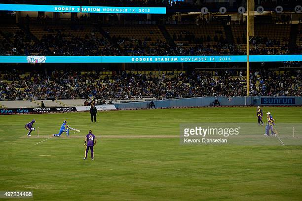 Sachin's Blaster and Warne's Warriors play the final game of a threematch three city Twenty20 series US tour of Cricket AllStars Series at Dodger...