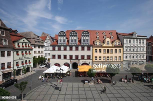 Sachsen Anhalt Stadtansicht Ansicht Naumburg Marktplatz Markt