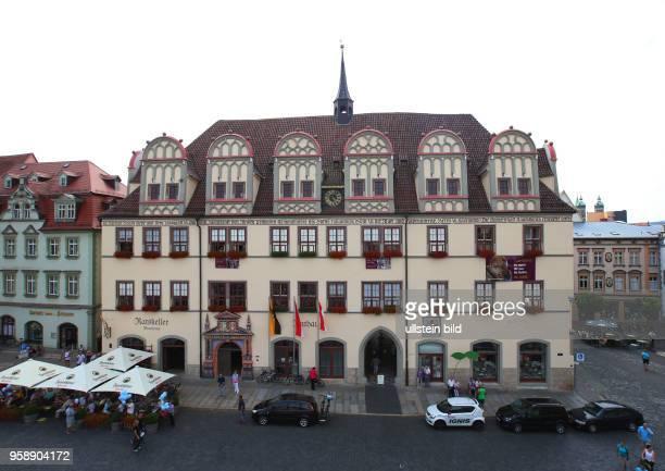 Sachsen Anhalt Stadtansicht Ansicht Naumburg Rathaus