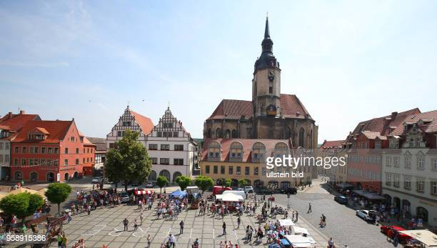 Sachsen Anhalt Stadtansicht Ansicht Naumburg Wenzelskirche Marktplatz Markt