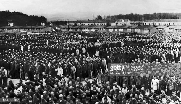 Sachsenhausen concentration camp prisoner mustering undated