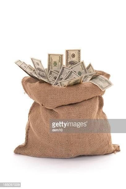 袋に米ドルのメモ