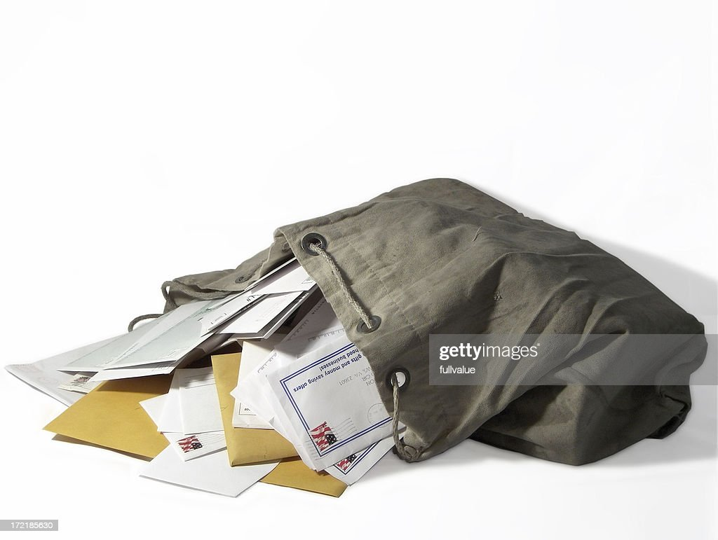 Sack of Mail : Stock Photo