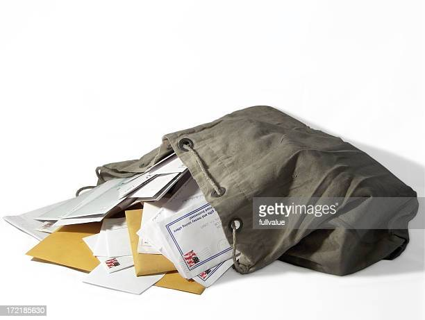 sack of mail - mail stock pictures, royalty-free photos & images