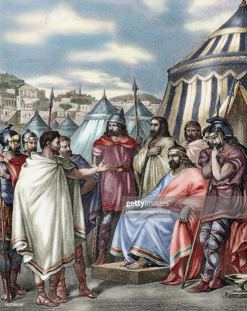 Sack of Rome led by Alaric I , King of the Visigoths ...