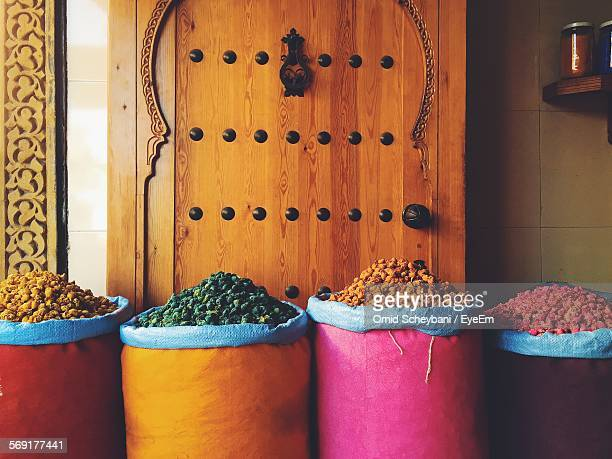 Sacks of spices for sale
