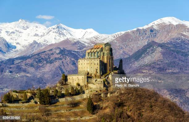 sacra di s. michele - archangel michael stock photos and pictures