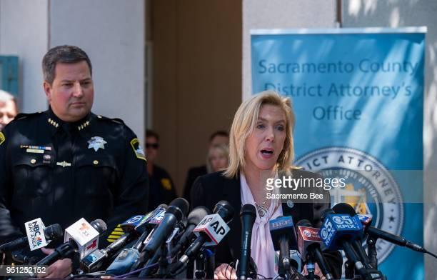 Sacramento District Attorney Anne Marie Schubert and Sheriff Scott Jones announce the apprehension of 72yearold Joseph James DeAngelo as the suspect...