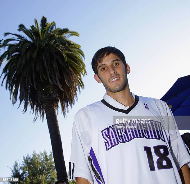 Sacramento Kings draft pick Omri Casspi during a rally to meet the new Kings on June 27 2009 at Marshall Park in Sacramento California NOTE TO USER...
