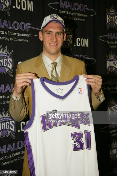 Sacramento Kings draft pick Spencer Hawes before his press conference on June 29 2007 at ARCO Arena in Sacramento California NOTE TO USER User...
