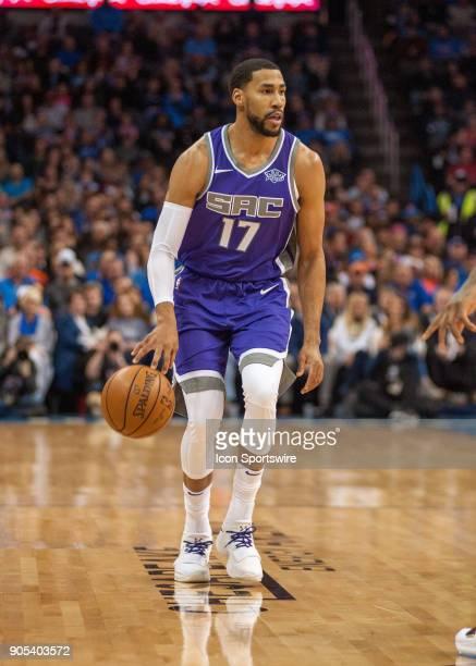 Sacramento Kings Forward Garrett Temple looking to make a play versus Oklahoma City Thunder at Chesapeake Energy Arena Oklahoma City OK