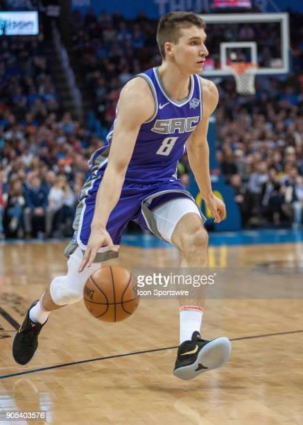Sacramento Kings Guard Bogdan Bogdanovic in game versus Oklahoma City Thunder at Chesapeake Energy Arena Oklahoma City OK