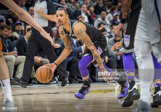 Sacramento Kings guard George Hill looks to make a play against the Phoenix Suns on Tuesday Dec 12 at the Golden 1 Center in Sacramento Calif