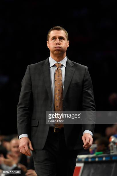 Sacramento Kings head coach David Joerger reacts during the first quarter of the game against the Brooklyn Nets at Barclays Center on January 21 2019...