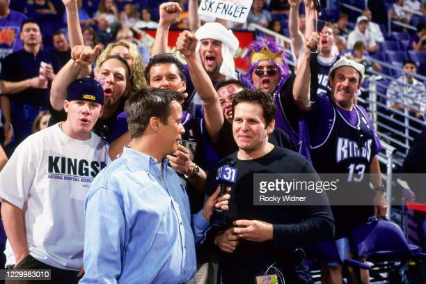 Sacramento Kings Owner, Joe Maloof is interviewed at the Arco Arena in Sacramento, California on May 2, 2001. NOTE TO USER: User expressly...