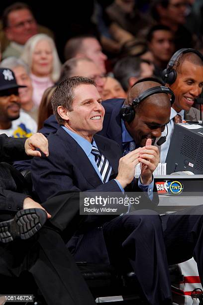 Sacramento Kings owner Joe Maloof watches his team take on the Denver Nuggets on January 6 2011 at ARCO Arena in Sacramento California NOTE TO USER...