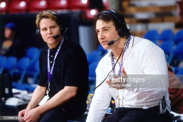 Sacramento Kings owners, Joe and Gavin Maloof are interviewed at the Arco Arena in Sacramento, California on March 24, 2002. NOTE TO USER: User...