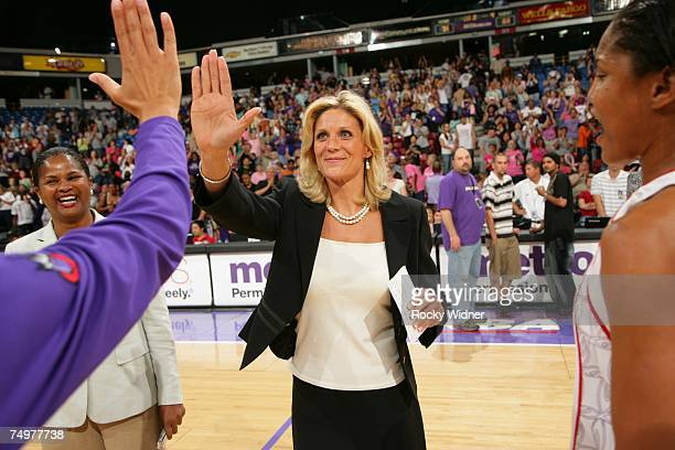 Sacramento Monarchs head coach Jenny Boucek is named coach of the AllSar team for the Western Conference after her team defeated the Minnesota Lynx...