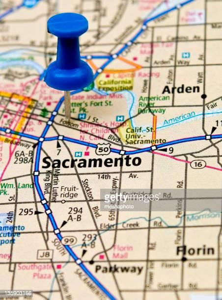 Sacramento On a Map