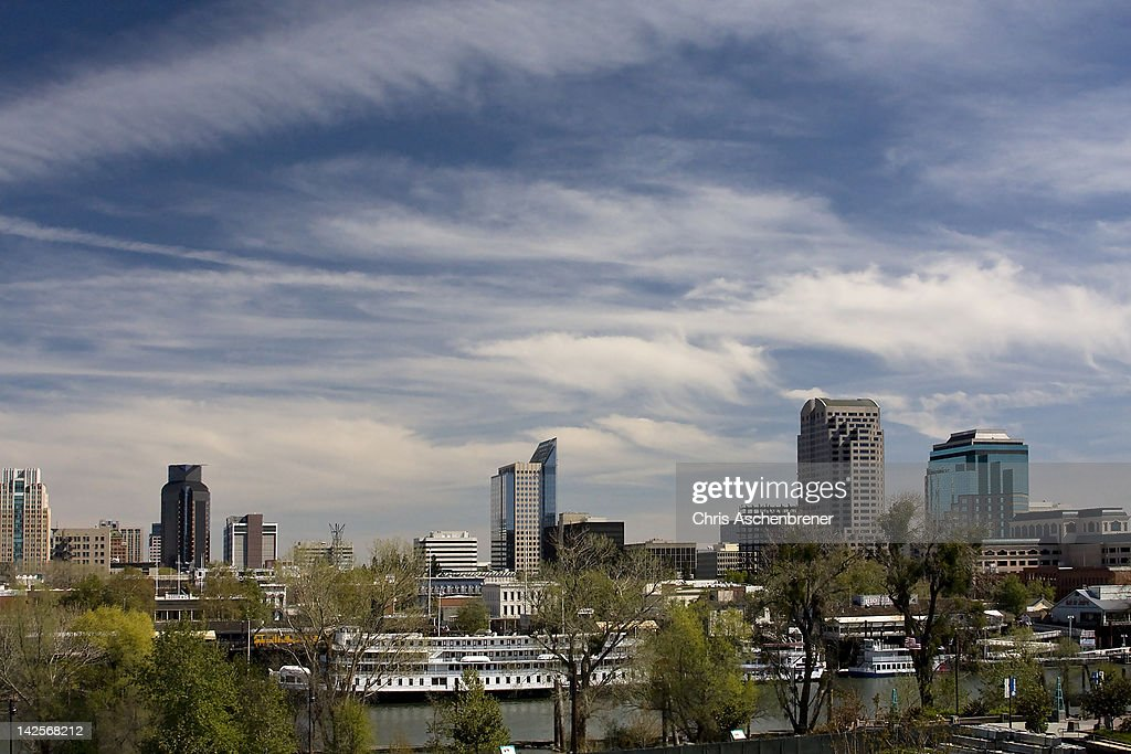 Sacramento skyline : Stock Photo