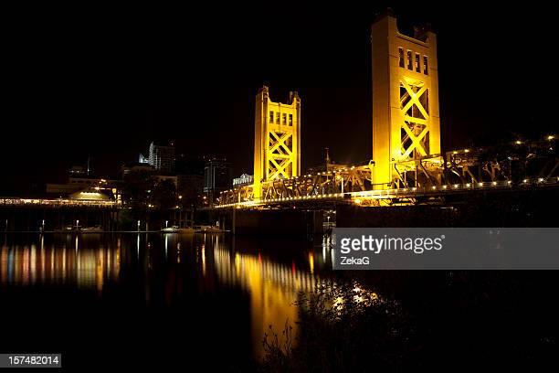 sacramento tower bridge. - sacramento stock pictures, royalty-free photos & images