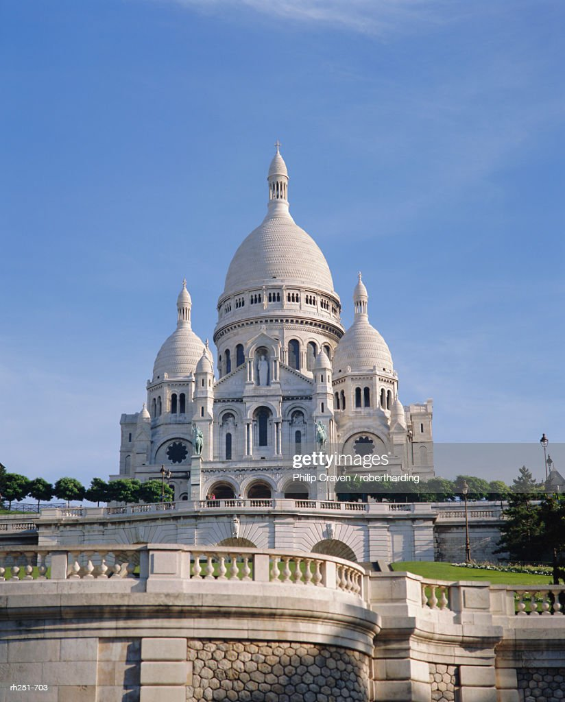 Sacre Coeur Basilica, Paris, France, Europe : Foto de stock