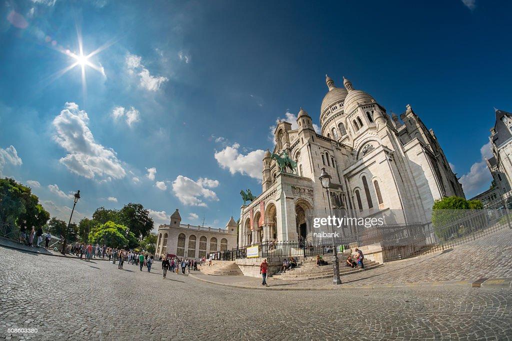 Sacre Coeur - La Basilique du Sacré Cœur de Montmartre : Foto de stock