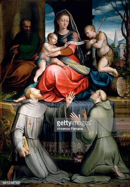 Sacred Family and Saints by Domenico Alfani