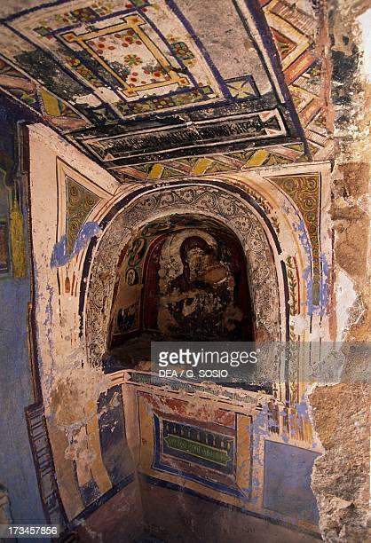 Sacred icon fresco Saint Catherine's Monastery Sinai Egypt