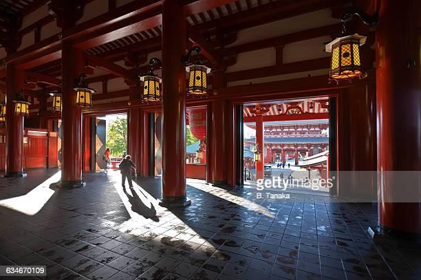 Sacred Senso-ji Temple Shadow in Tokyo, Japan