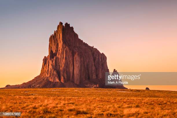 sacred shiprock - new mexico stock pictures, royalty-free photos & images