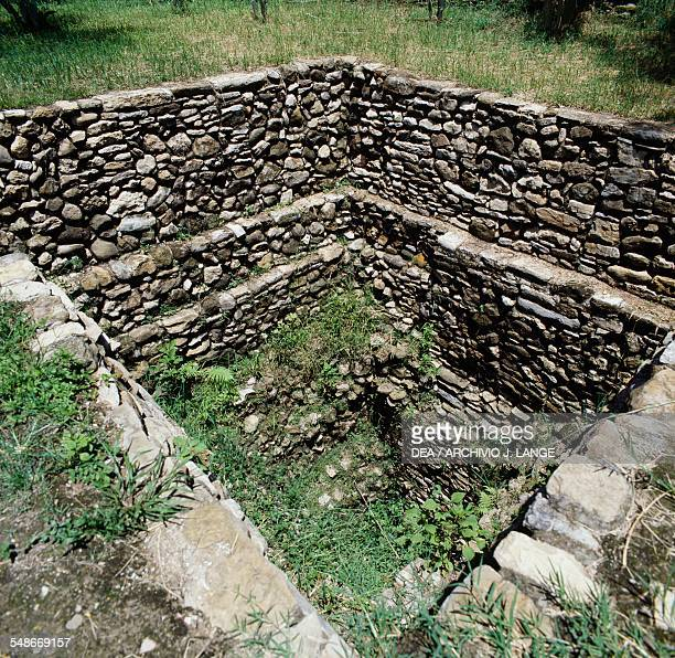 Sacred well, Tonina, Ocosingo, Chiapas, Mexico. Mayan civilisation, 6th-9th century. Detail.
