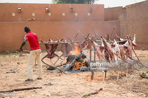Sacrifice of sheep for Tabaski, name given in western Africa to the Aid el kebir. Tabaski is one of the main holidays in islam, commemorating the sacrifice of Abraham.
