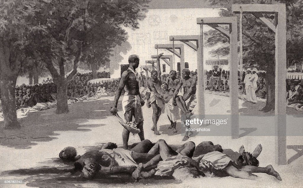 Sacrificed slaves in Dahomey : News Photo