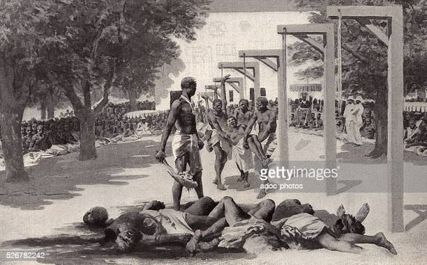 Sacrificed slaves in Dahomey by the King Behanzin Ca 1890
