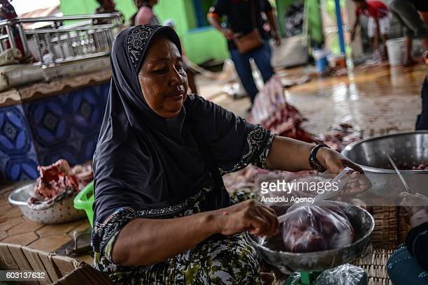 A sacrificial cow was butchered outside the prayer hall during EidAlAdha in Phnom Penh Cambodia on Monday September 12 2016