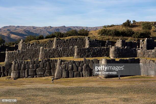Sacsayhuaman, the former capital of the Inca empire, UNESCO World Heritage Site, Cuzco, Peru, South America
