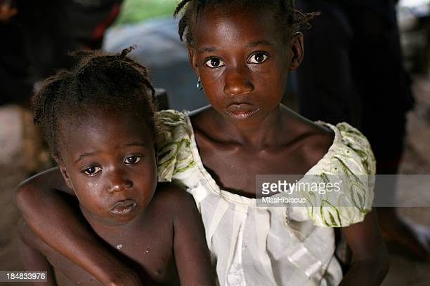 Sad African Girls