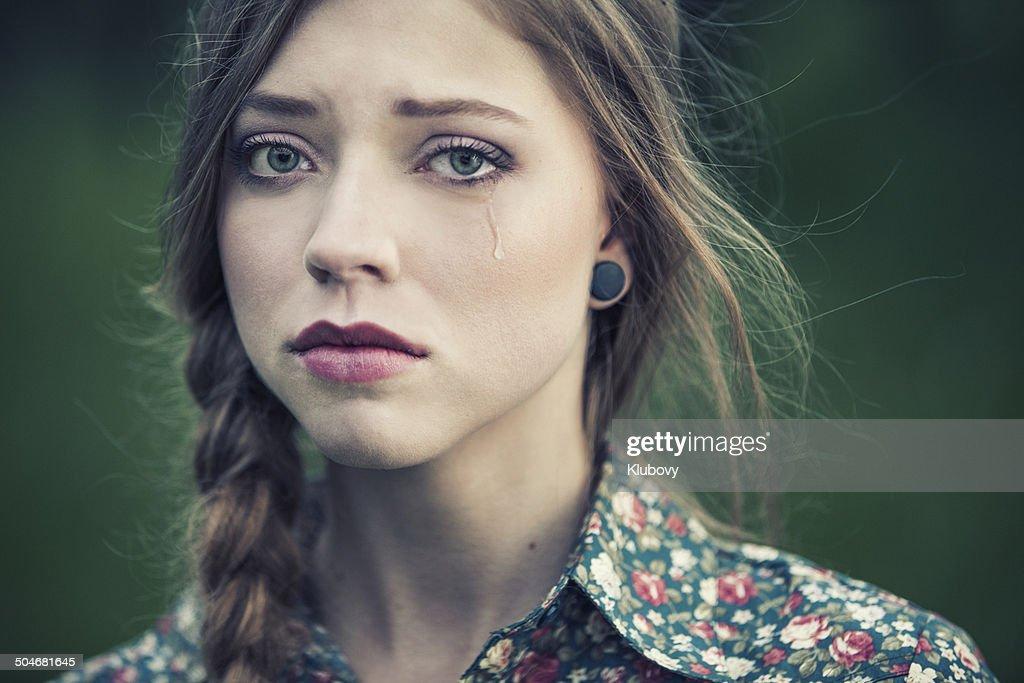 Sad beauty : Stock Photo