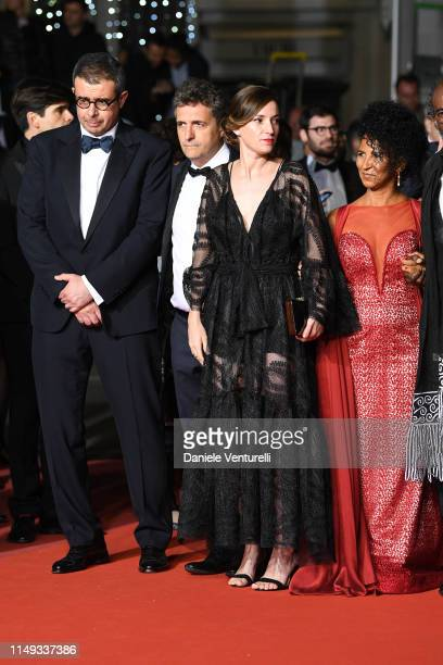 """Saïd Ben Saïd, Kleber Mendonça Filho and Emilie Lesclaux attend the screening of """"Bacurau"""" during the 72nd annual Cannes Film Festival on May 15,..."""