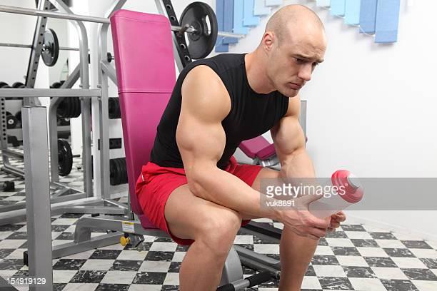 Sad bodybuilder