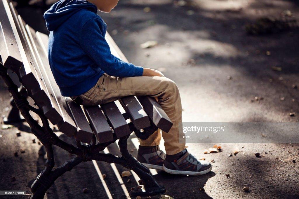 Sad boy : Stock Photo
